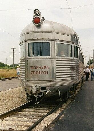 Drumhead (sign) - Image: Nebraska Zephyr observation end