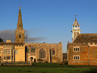 Nevill Holt - The hall, church and stable block