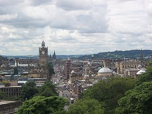 Princes Street - View of Princes Street from Calton Hill.