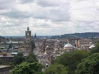 Princes Street major thoroughfare in central Edinburgh, Scotland