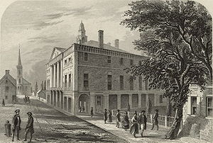 1st United States Congress - Image: New York City Hall 1789b