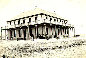 Ulysses, Kansas - Hotel Edwards, in New Ulysses, after town was moved in 1909