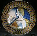 Ngv, maiolica di deruta, piatto con gigura femminile, 1525 circa.JPG
