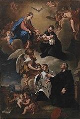The Holy Ghost, Angels and the Virgin with Saints Mark, Stanislau Kostka (Holding the Child), Aloysius Gonzaga and Francesco Borgia