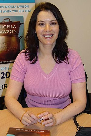 Nigella Lawson - At a book signing in 2004.