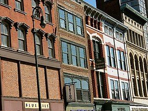 Ninth Square Historic District - Facades on Chapel St. between Church St. and Orange St.