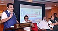 Nitin Gadkari addressing at an interactive session on 'Promotion and Development of Cruise Tourism in India', in Mumbai.JPG