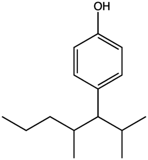 Alkylphenol - Chemical structure of the alkylphenol nonylphenol
