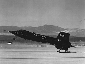 Benjamin S. Kelsey - North American X-15 touching down
