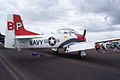 North American T-28A Trojan Navy NX28100 RSideRear SNF 16April2010 (14607423056).jpg