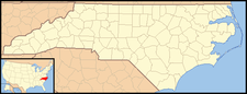 Biscoe is located in North Carolina