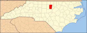 Locator Map of Orange County, North Carolina, ...