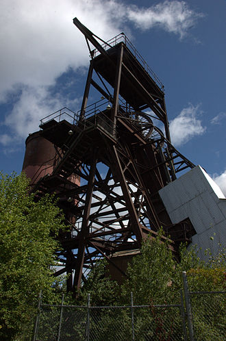 Ely, Minnesota - The Pioneer Mine headframe today