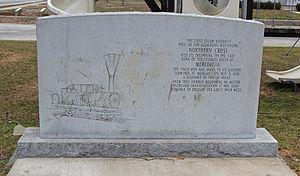 Northern Cross Railroad - Northern Cross Railroad monument in Meredosia.