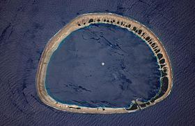 Image satellite de Nukuoro.