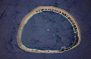 Atoll - Nukuoro from space. Courtesy NASA.