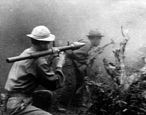 Rocket-propelled grenade - A North Vietnamese soldier using a Soviet made RPG-2.