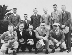 Tommy Gorman - New York Americans visit to Tijuana, Mexico in April 1926. Gorman is second from left, front row.