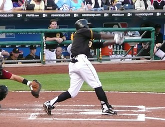 Nyjer Morgan - Morgan batting for the Pittsburgh Pirates in 2009