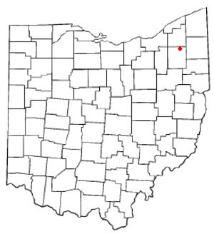 Hiram, Ohio - Image: OH Map doton Hiram