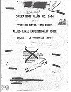"OPERATION PLAN NO. 2-44 OF THE WESTERN NAVAL TASK FORCE, ALLIED NAVAL EXPEDITIONARY FORCE SHORT TITLE ""ONWEST TWO"""