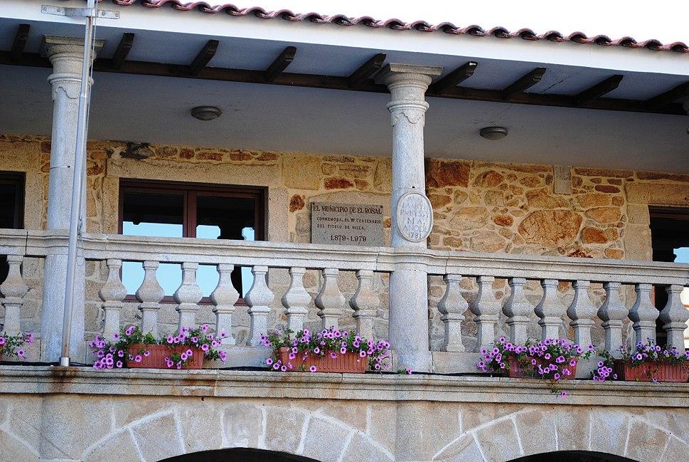 O Rosal, balcón da Casa do Concello