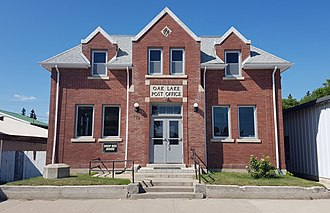 Oak Lake, Manitoba - The Post Office building in Oak Lake, constructed in 1930.