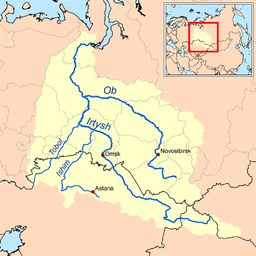 Ob watershed.png. Map of the Ob River watershed