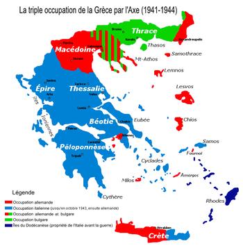 Occupation De La Grèce Pendant La Seconde Guerre Mondiale
