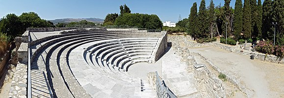 The Odeon of Kos in Kos, Greece.