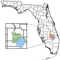 Okeechobee Plain location map.png