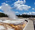 Old Faithful Geyser Basin, Yellowstone 2011 (28764344454).jpg