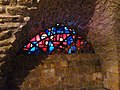Old Jerusalem Via Dolorosa Sixth Station chapel stained glass window.jpg