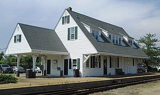 Montauk station - The former Montauk Station house, now the Depot Art Gallery (2013)