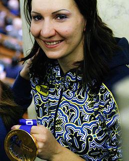 Olena Pidhrushna Ukrainian biathlete