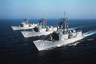 <i>Oliver Hazard Perry</i>-class frigate 1977 class of frigates of the United States Navy
