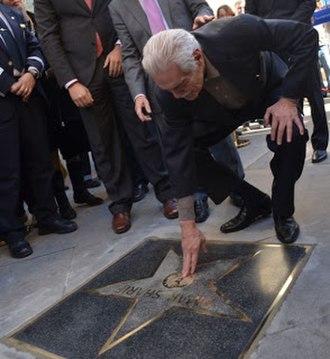 Almeria Walk of Fame - Omar Sharif showing the star