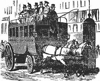 Bus - Parisian omnibus, late 19th century