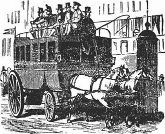 Public transport bus service - Parisian Omnibus, late nineteenth century