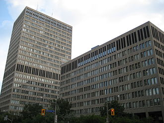 Macdonald Block Complex - Two of the buildings of the complex: Mowat (left) and Hearst (right) Blocks