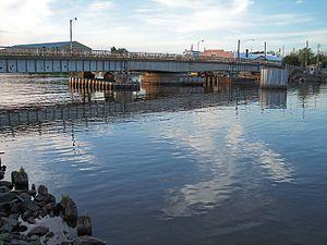 Ontonagon, Michigan - Image: Ontonagon Michigan swing bridge