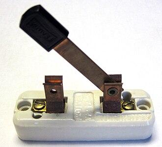 Knife switch - Open knife switch