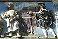Opere di misericordia 02, santi buglioni, accogliere i pellegrini, dett 04.jpg