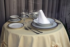 Tableware - Table laid for one