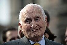 Il senatore a vita Scalfaro nel 2009.