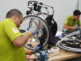 2016 Summer Paralympics - Wheelchair repair. During the games Ottobock technicians repaired 2,745 wheelchairs, 438 prosthetics and 178 orthotics for 1,162 athletes.