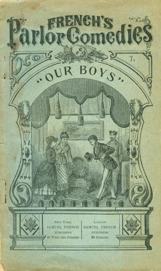 Our Boys - Cover of script, c. 1880