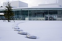 Outdoor chairs under snow, 21st Century Museum of Contemporary Art.jpg