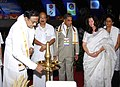 P. Chidambaram inaugurating the 'Global Community Policing Conclave' at Cochin, Kerala. The Minister of State for Agriculture, Consumer Affairs, Food & Public Distribution, Prof. K.V. Thomas is also seen.jpg