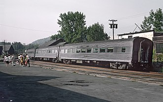 Empire Service - PC No. 3636, one of the rehabilitated 64-seat coaches, at Hudson in 1968